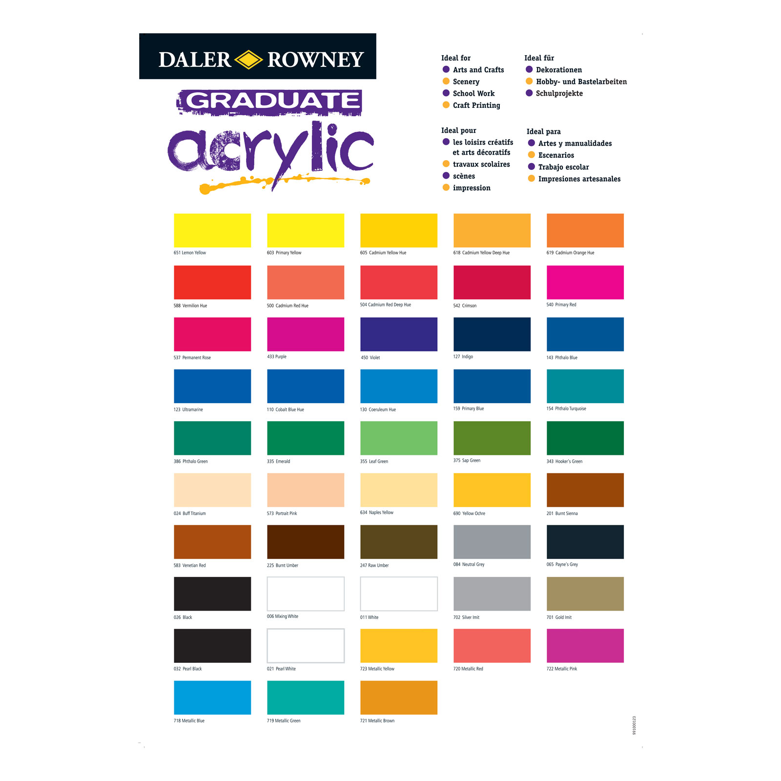 Golden Acrylic Paint Density