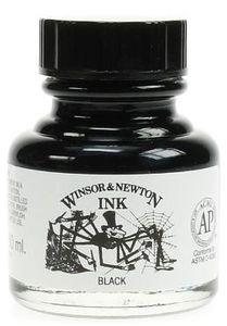 Winsor Newton Calligraphy Ink Black Dip Ink 30 Ml Flaska